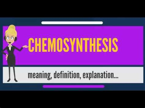 Chemosynthesis: Definition & Equation - Video & Lesson